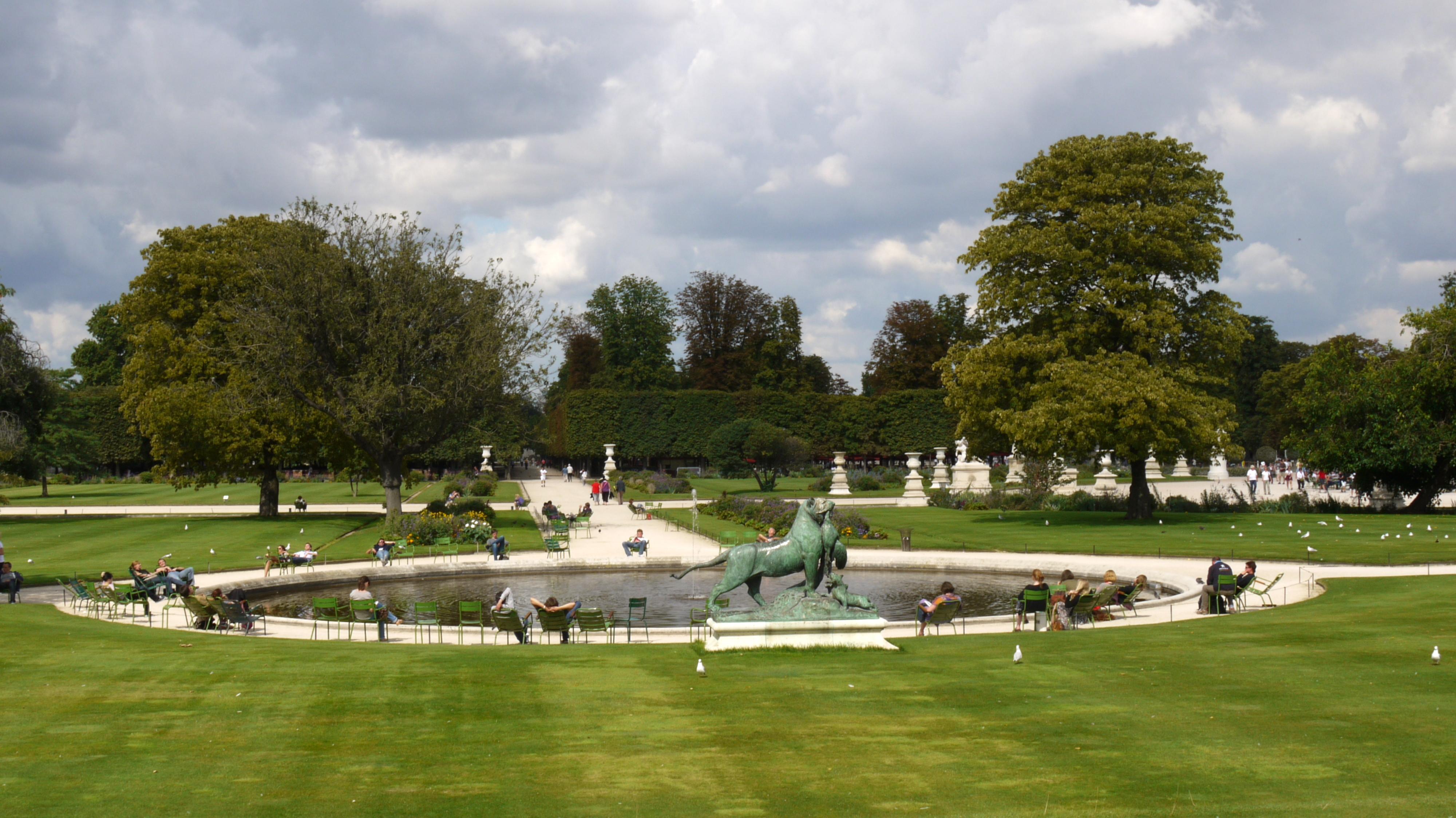 Tuileries - Plan detaille du jardin des tuileries ...