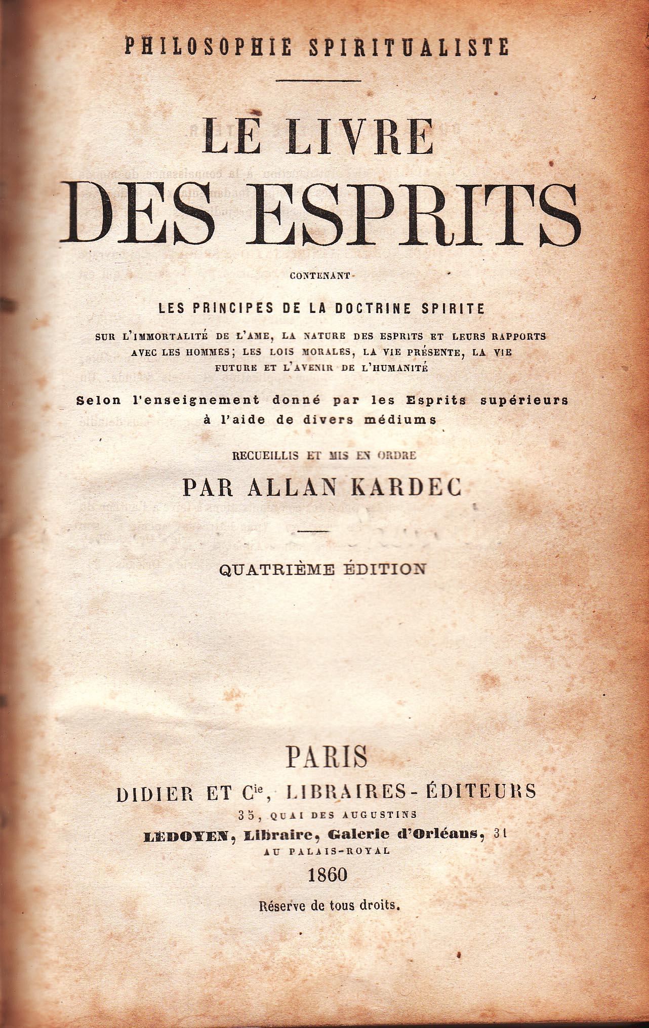 Скачать Книга Духов Кардек