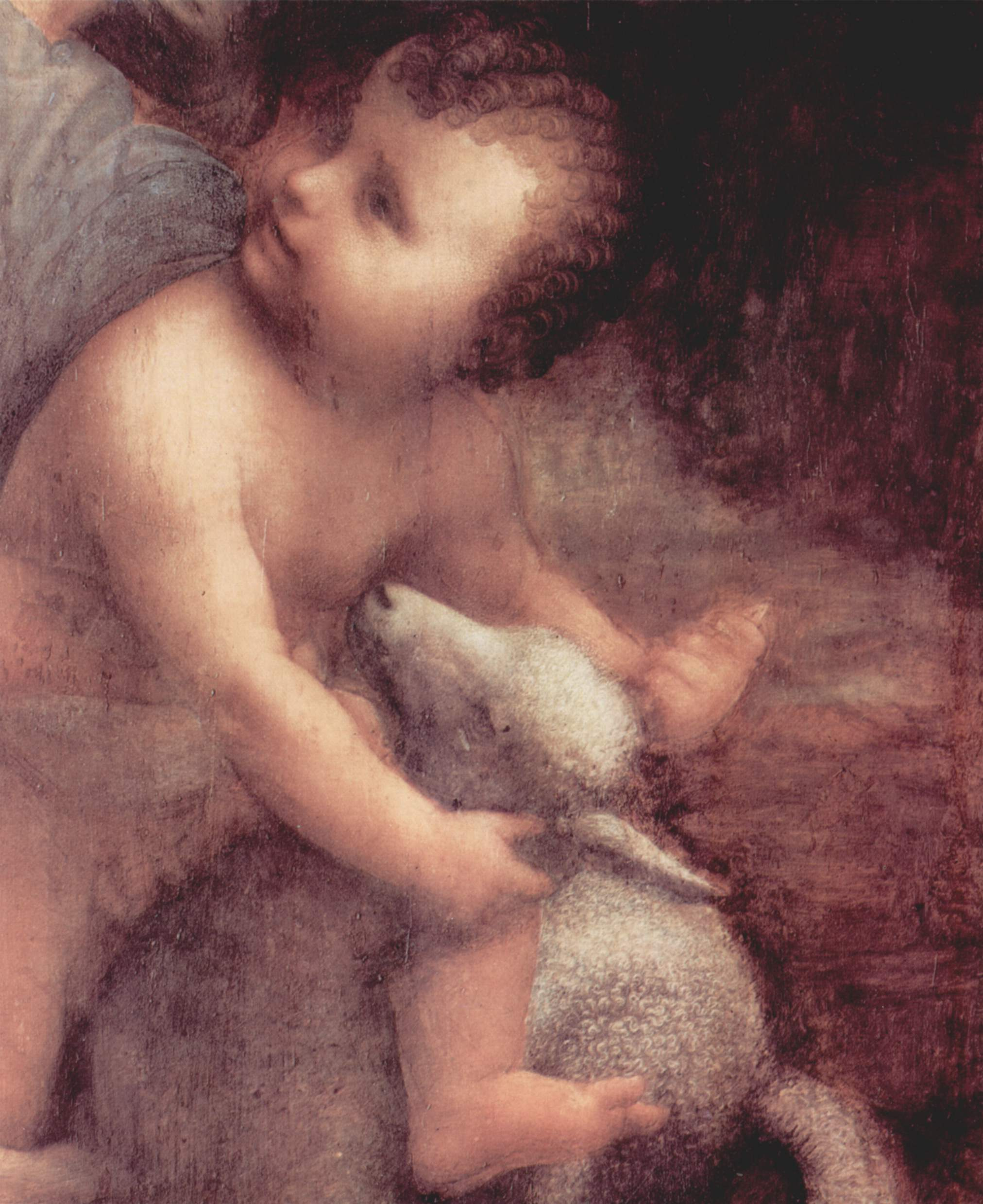 Gesù e l'agnello, Leonardo da Vinci (particolare) dans immagini sacre Leonardo_da_Vinci_022
