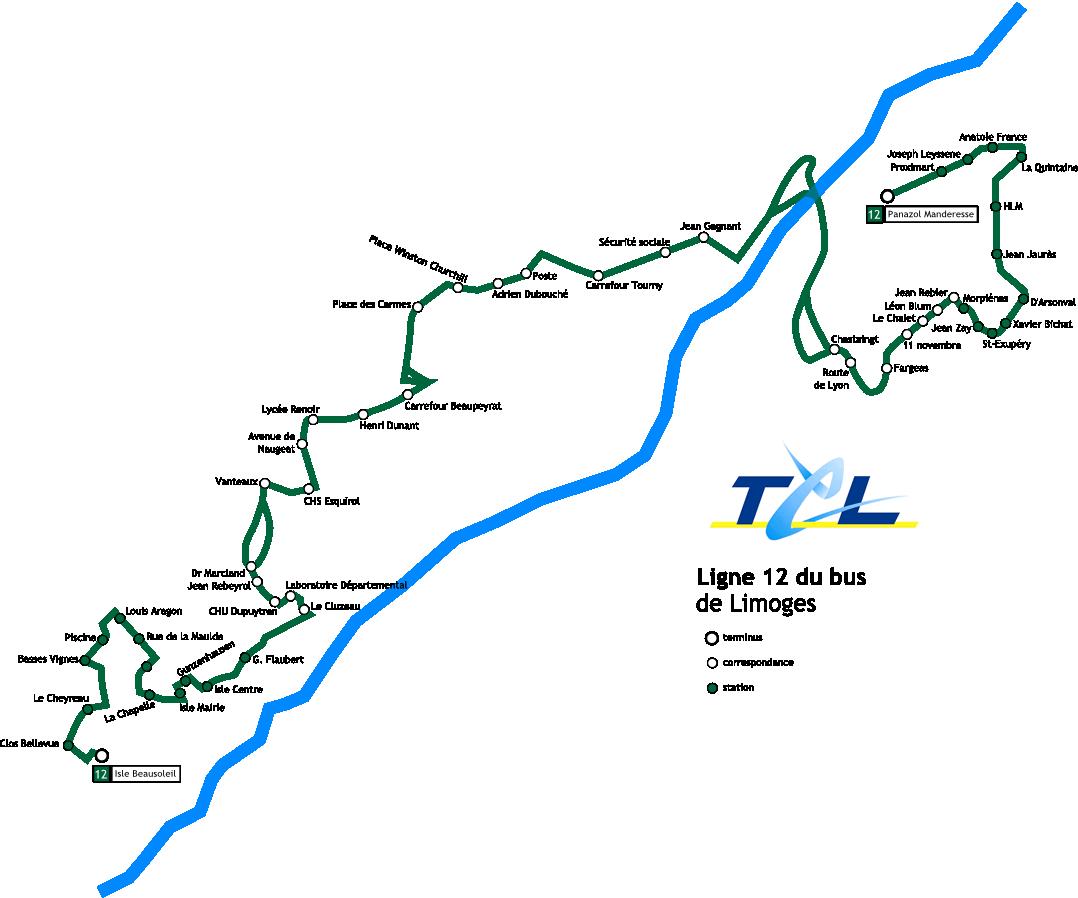 Ligne 12 du bus de limoges - Ligne bus limoges ...