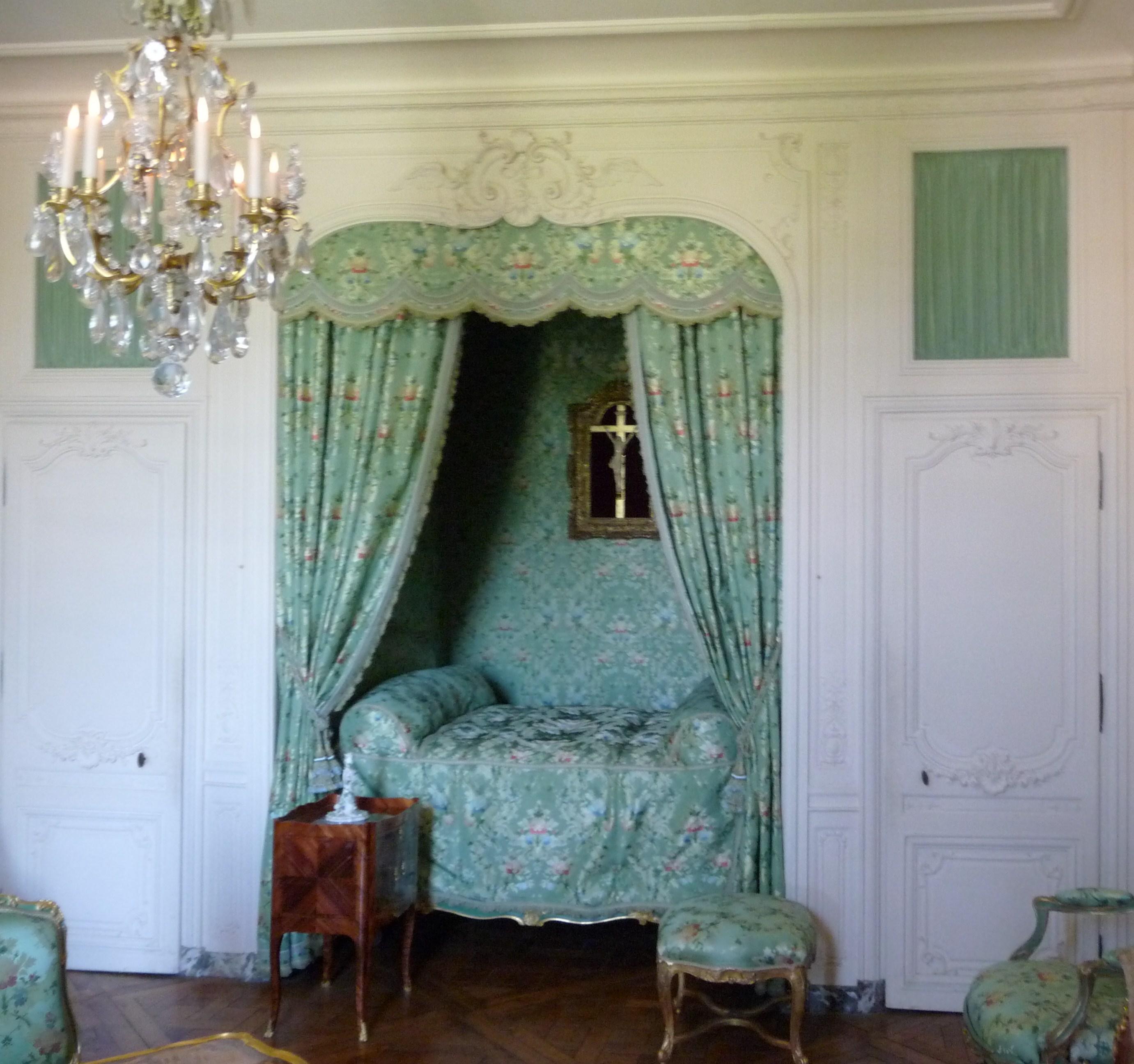 Appartement de la marquise de pompadour - Chambre en alcove ...