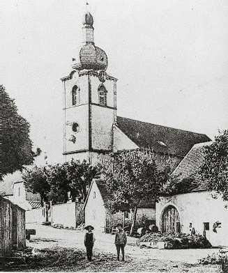 Église d' ormersviller détruite en 1944