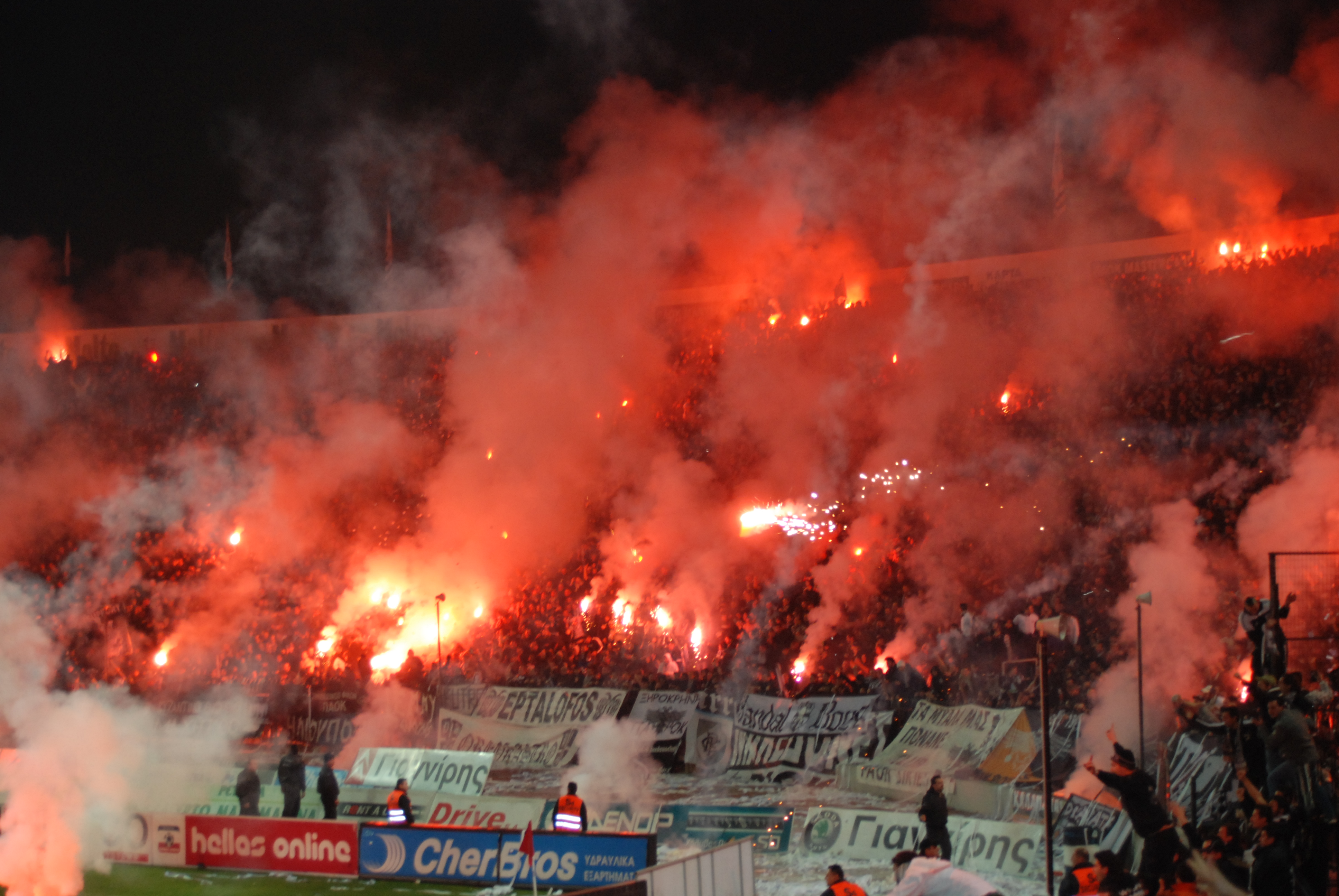 Ultras supporters for Paok salonique