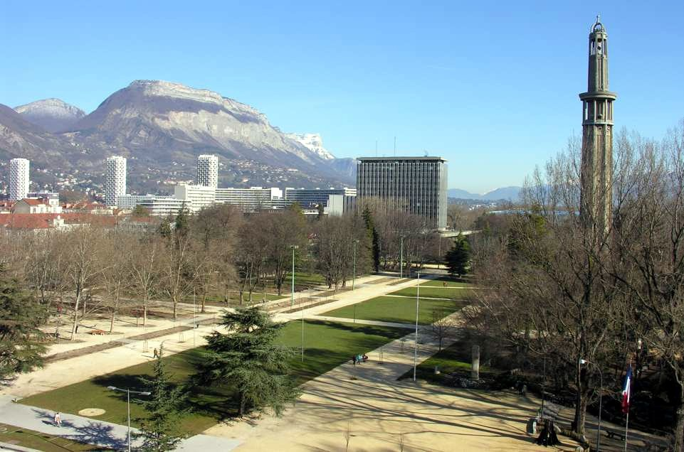 Parc paul mistral for Superficie grenoble