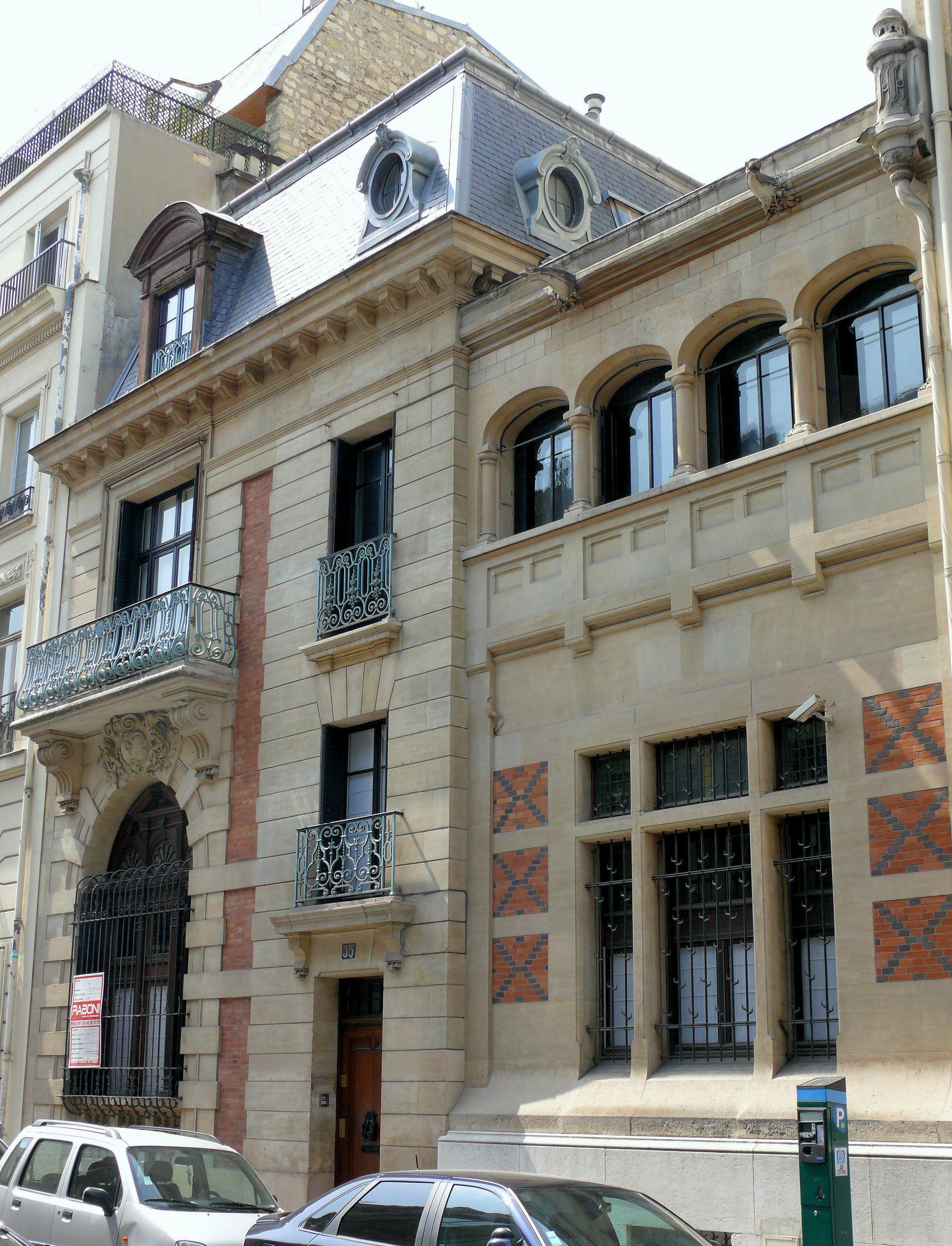 Rue fortuny - Hotel particulier paris bismut architecture ...