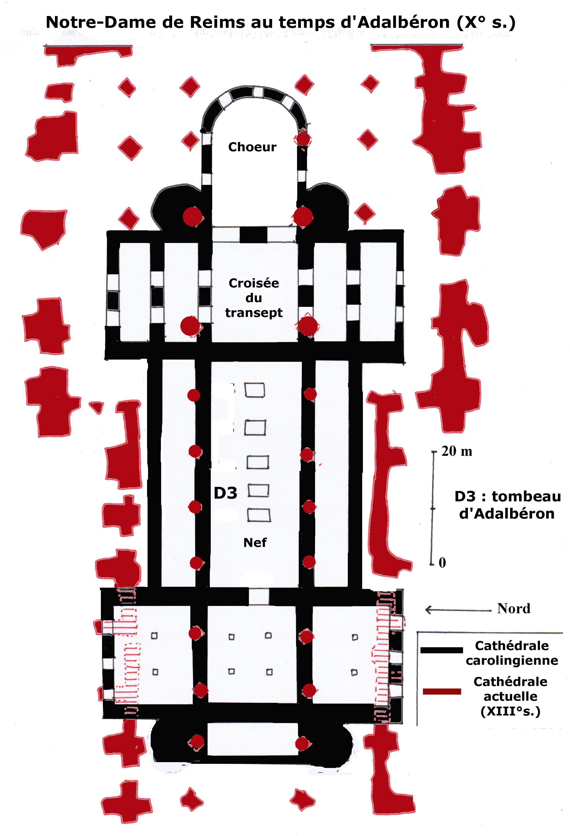 Plan Cathedrale Reims Plan de la Cathédrale à