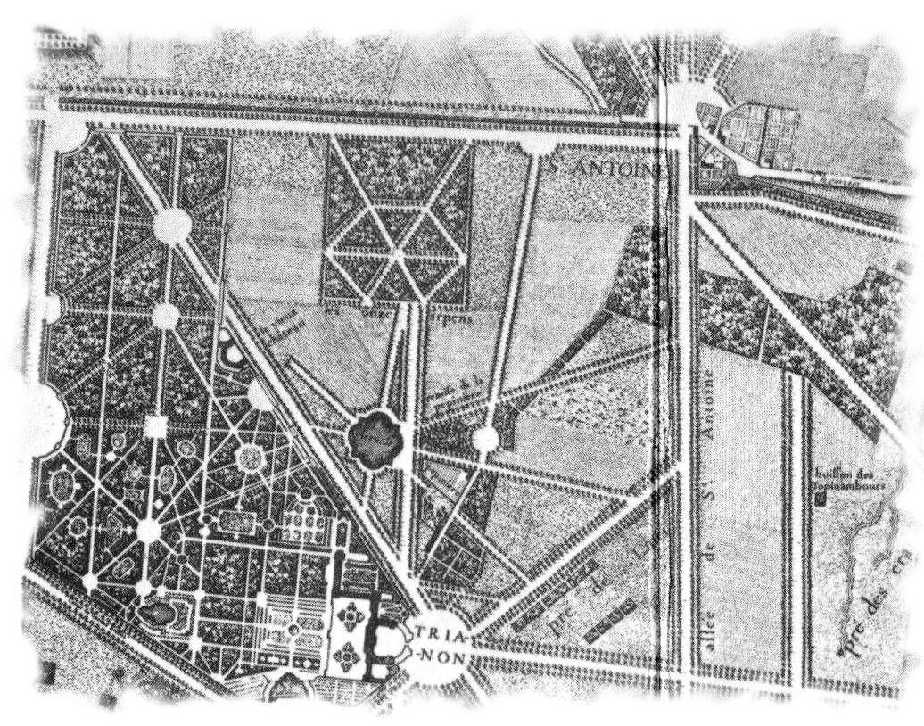 Hameau de la reine for Trianon plan salle