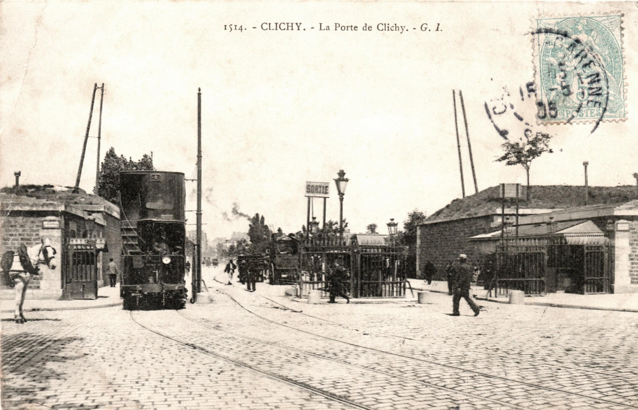 Compagnie des tramways de paris et du d partement de la seine for Porte clichy