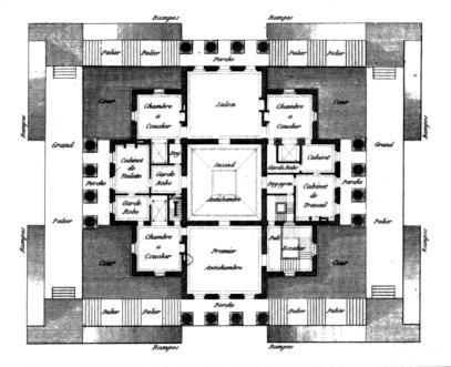 Claude nicolas ledoux - Plan maison de campagne ...