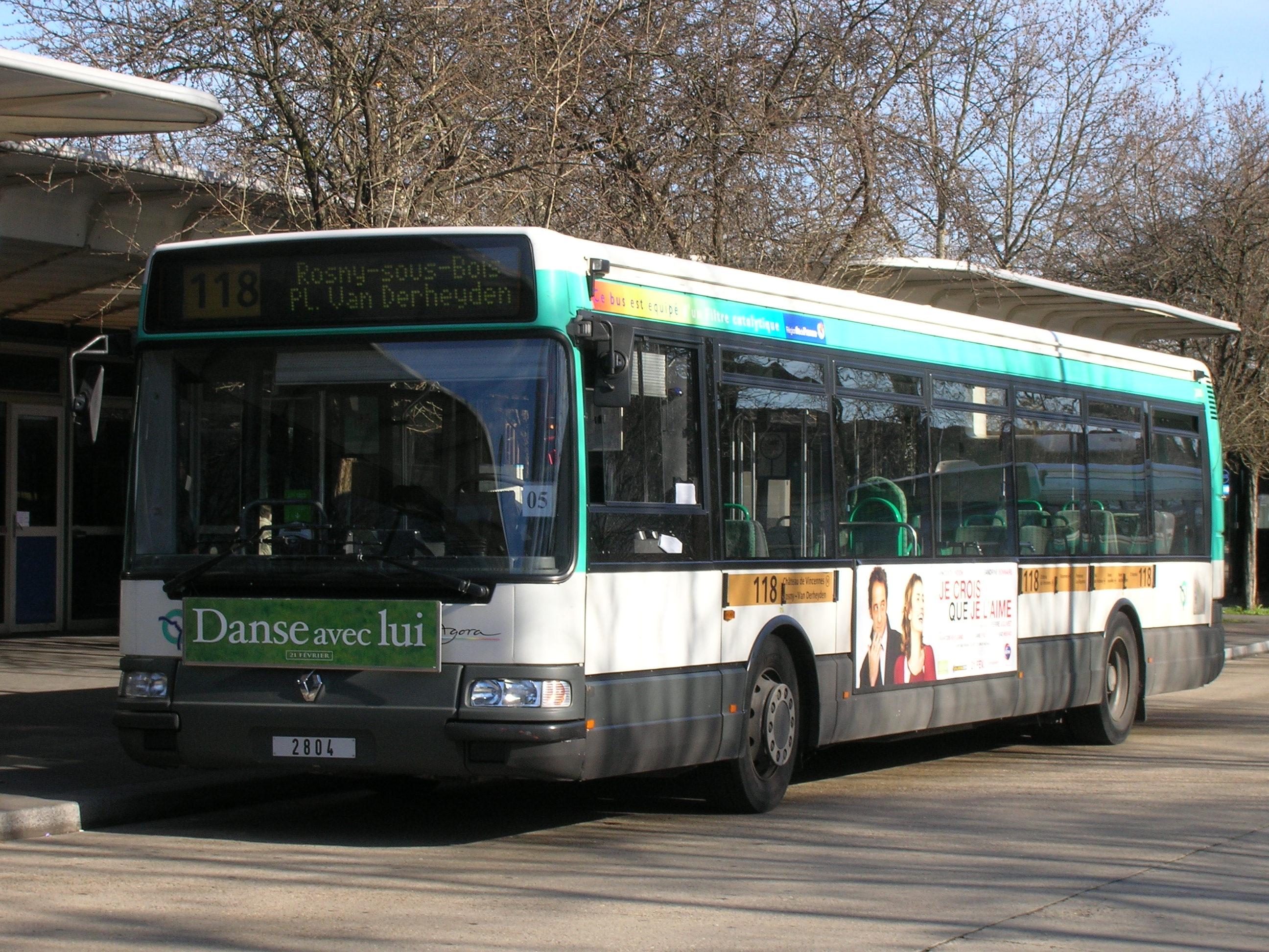 Ligne de bus ratp 118 - Ligne 118 bus ...