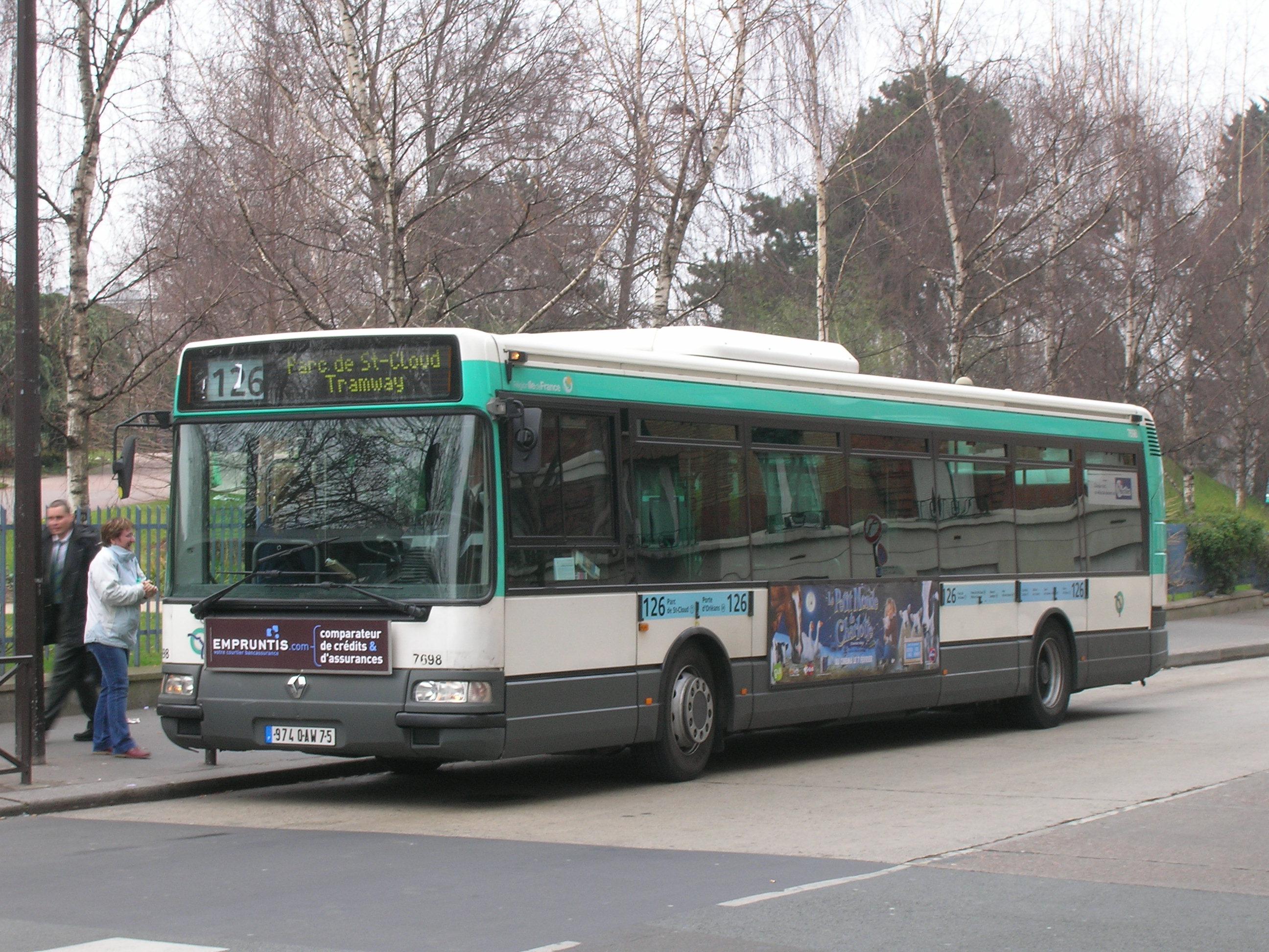 Ligne de bus ratp 126 - Supermarche porte d orleans ...