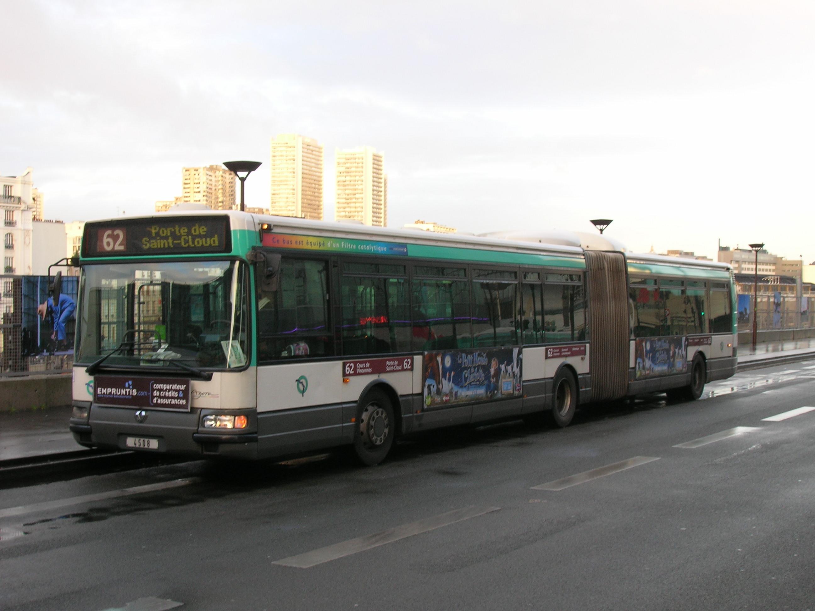 Ligne De Bus Ratp 62