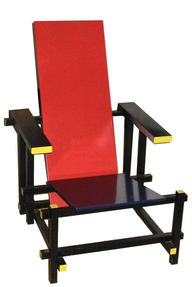Chaise rouge et bleue for Chaise rouge et bleue