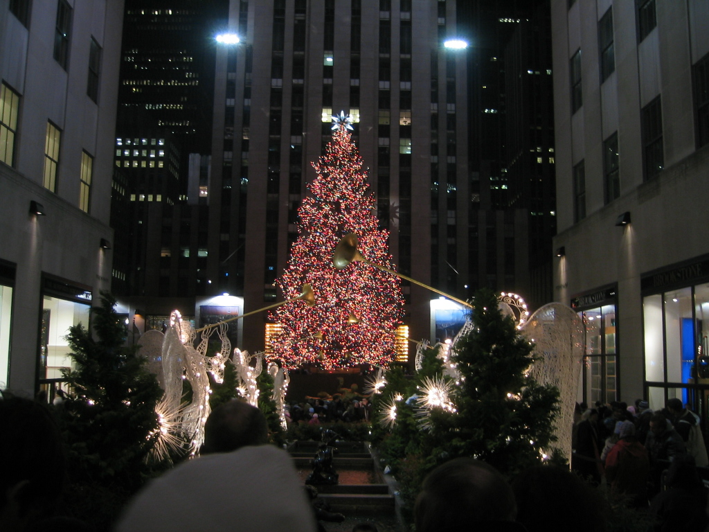 Rockfeller center - Weihnachtsbaum new york ...