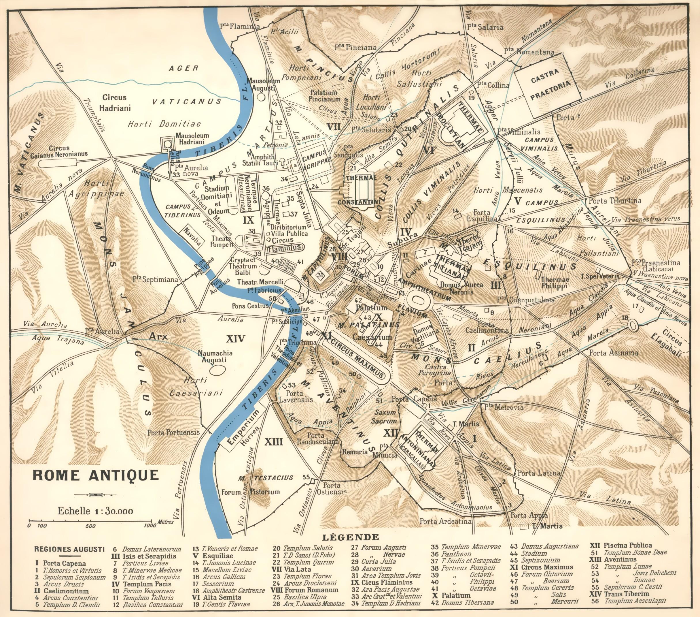 Carte De La Rome Antique