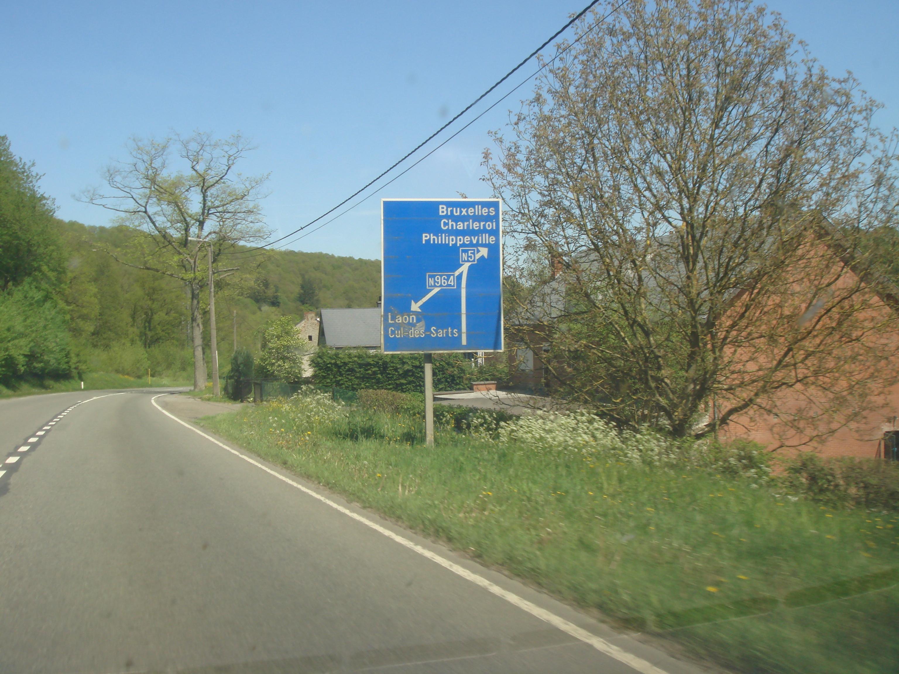 Route nationale 5 belgique for Route nationale 104