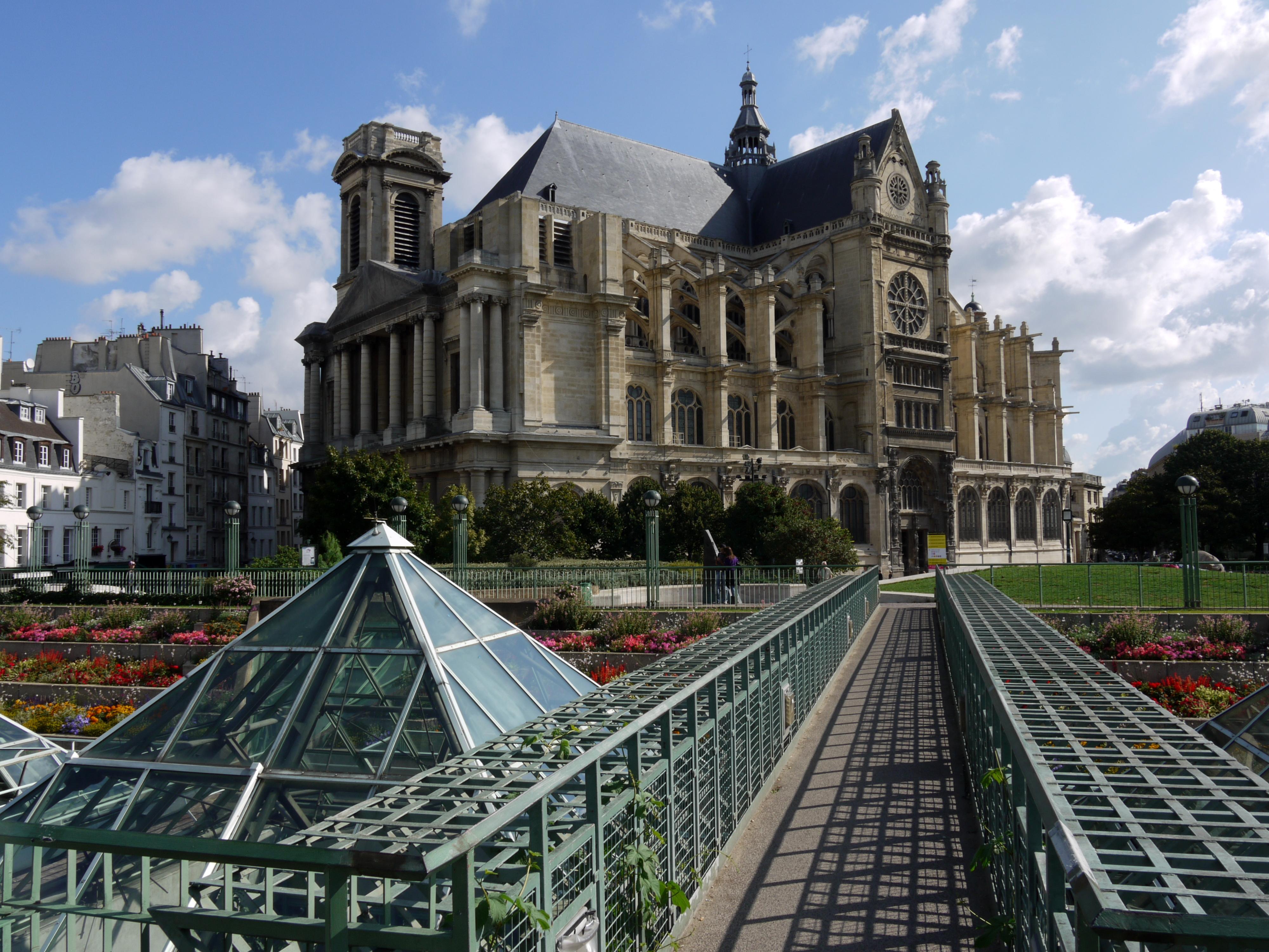Jardin des halles for Architecte st eustache