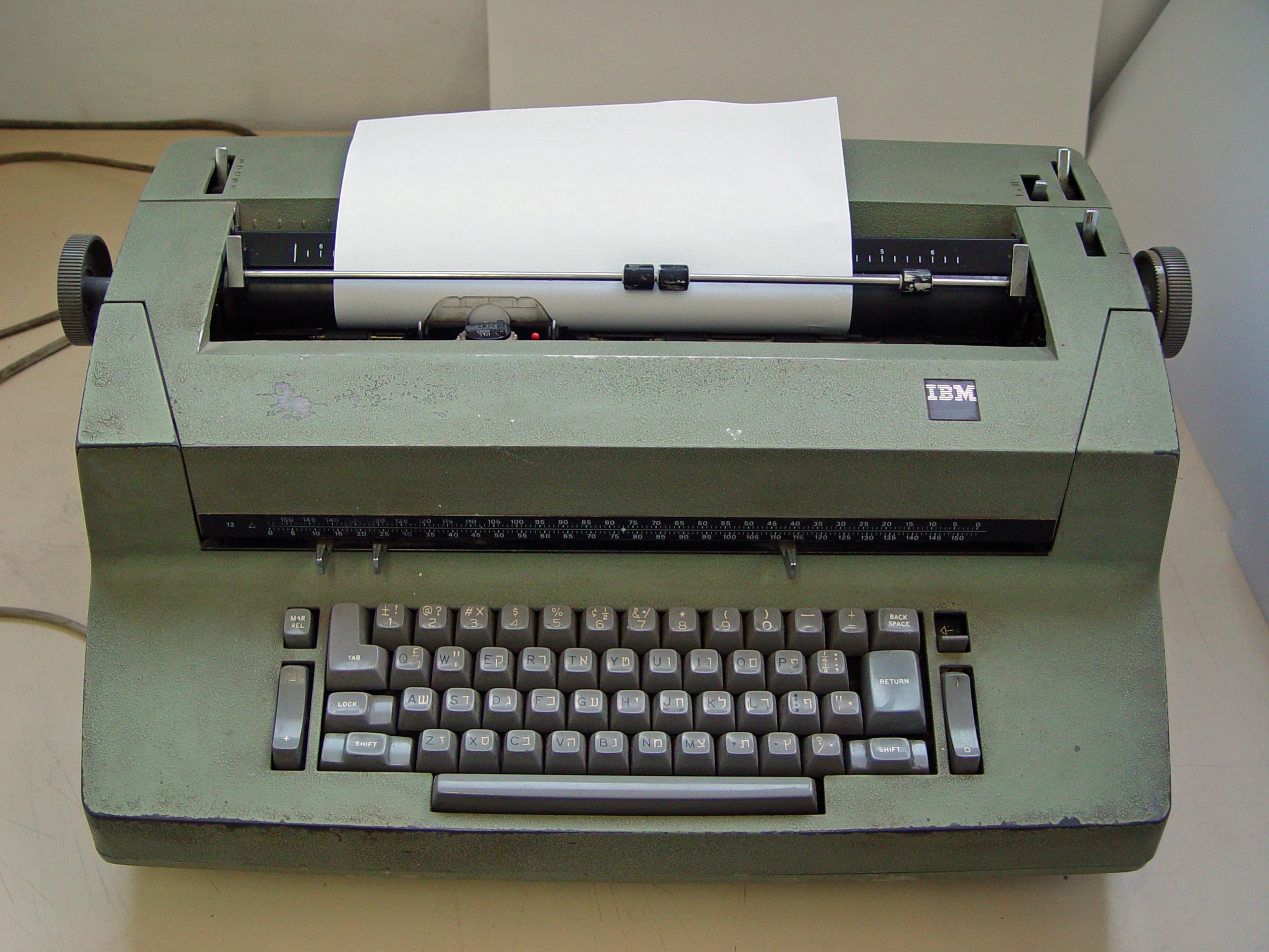 La machine à écrire ibm selectric ii