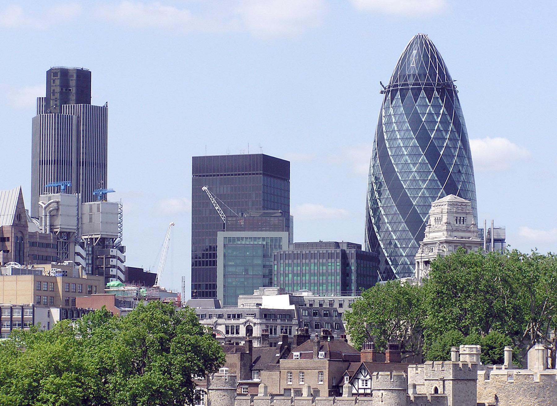Liste des plus hautes structures de londres for Tour city londres