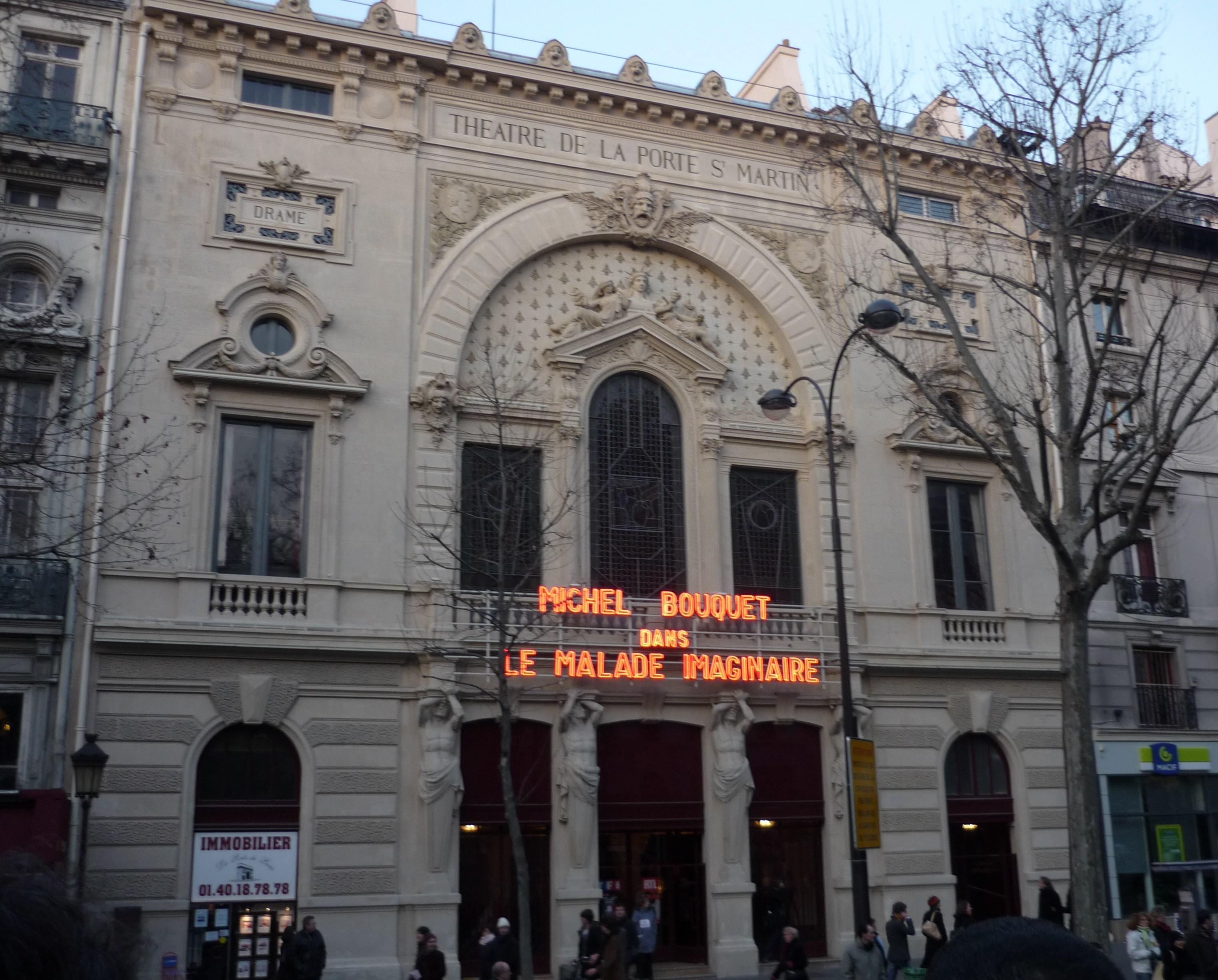 Theatre de la porte saint martin - Plan salle theatre porte saint martin ...