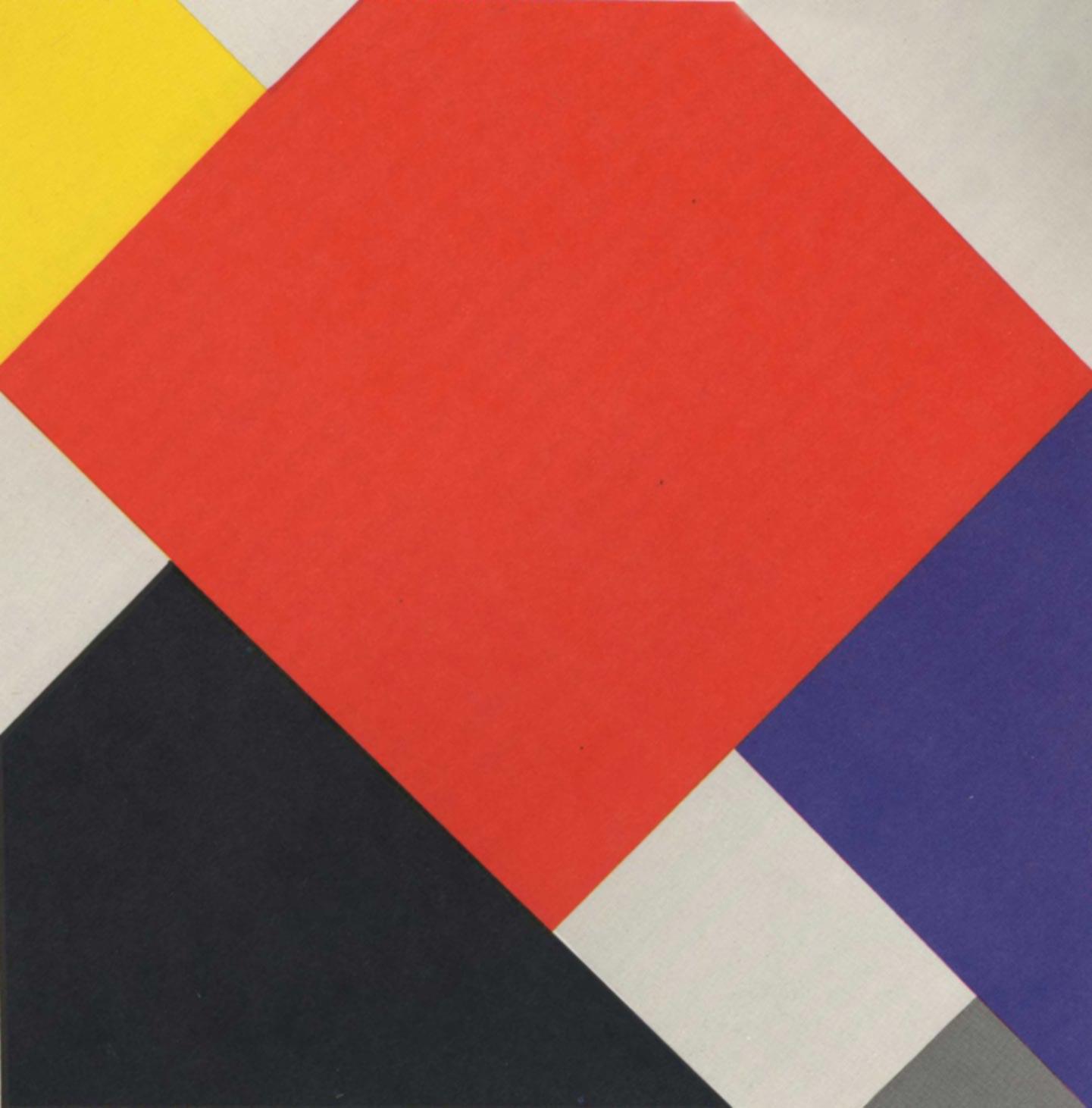 La diferencia principal entre Mondrian y van Doesburg es la ausencia y el uso, respectivamente, de la línea diagonal