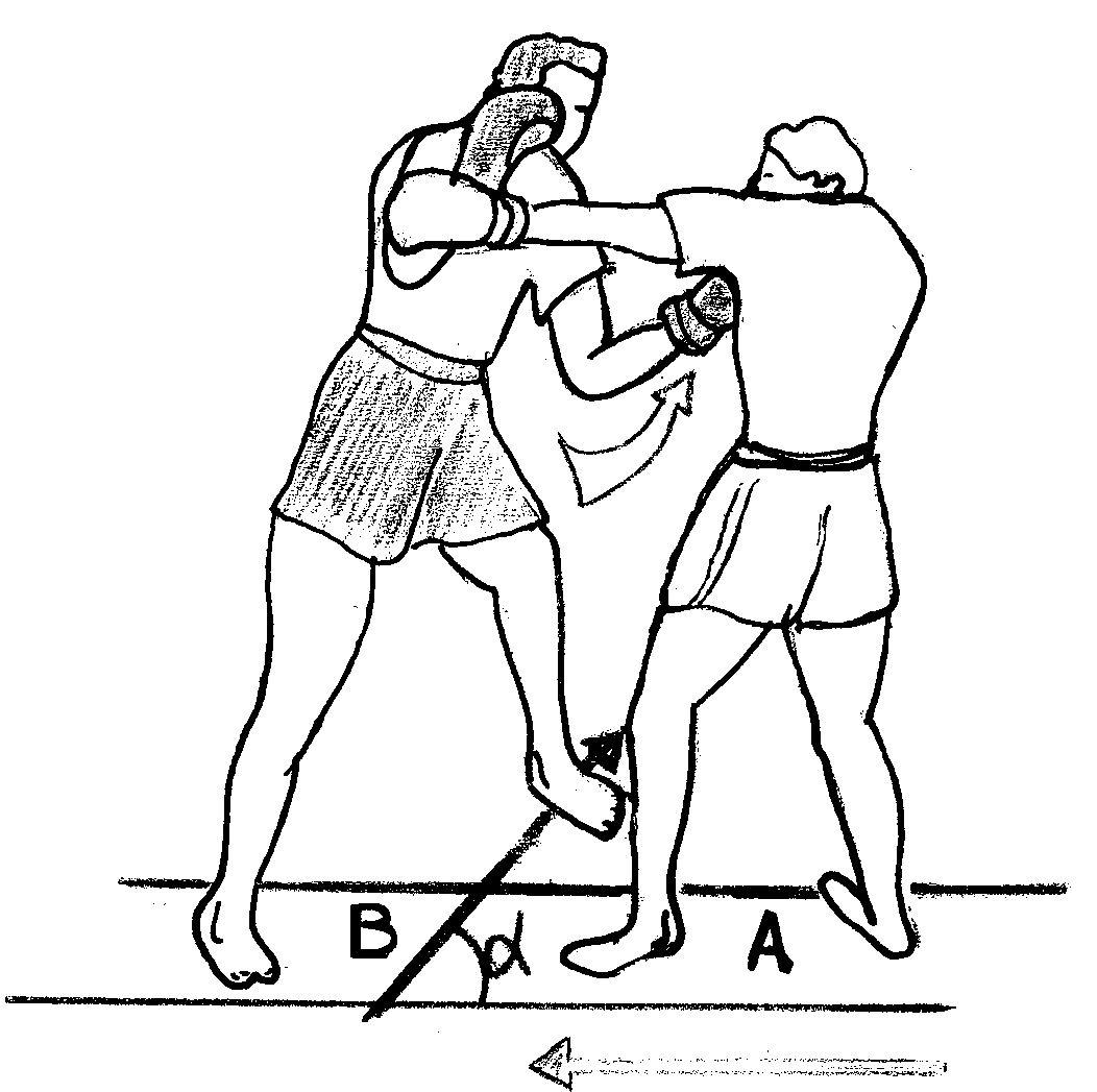 Boxeur - Coup de poing dans le dos ...