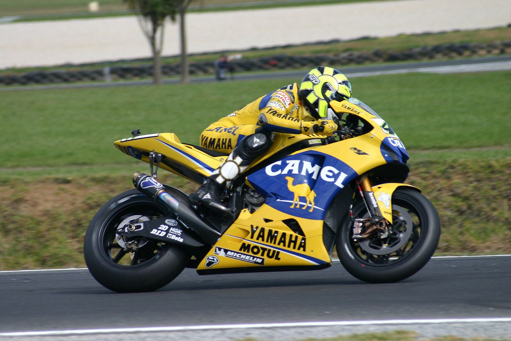valentino rossi trail of glory Photo