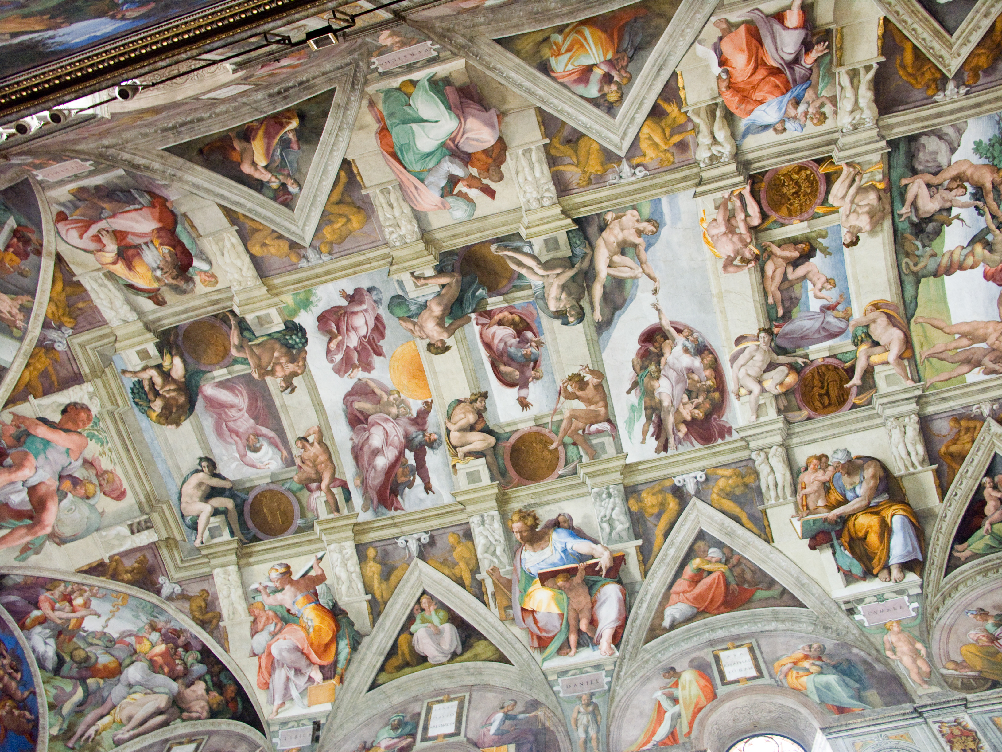 restauration des fresques de la chapelle sixtine